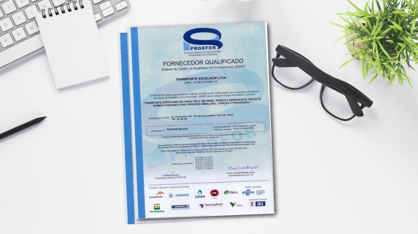 Transporte Excelsior renovou certificação Prodfor