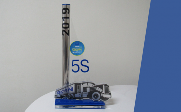 Transporte Excelsior recebe prêmio 5s da CSN